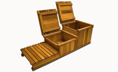 Spa Stairs Storage : tier hot tub storage step