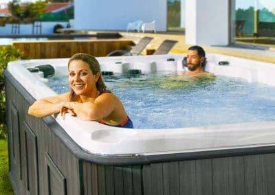 swim spa hudson couple fun